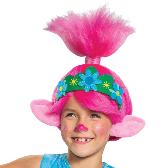 Troll Movie 2 Poppy Deluxe Girls Licensed Costume - X-Small (3T/4T)