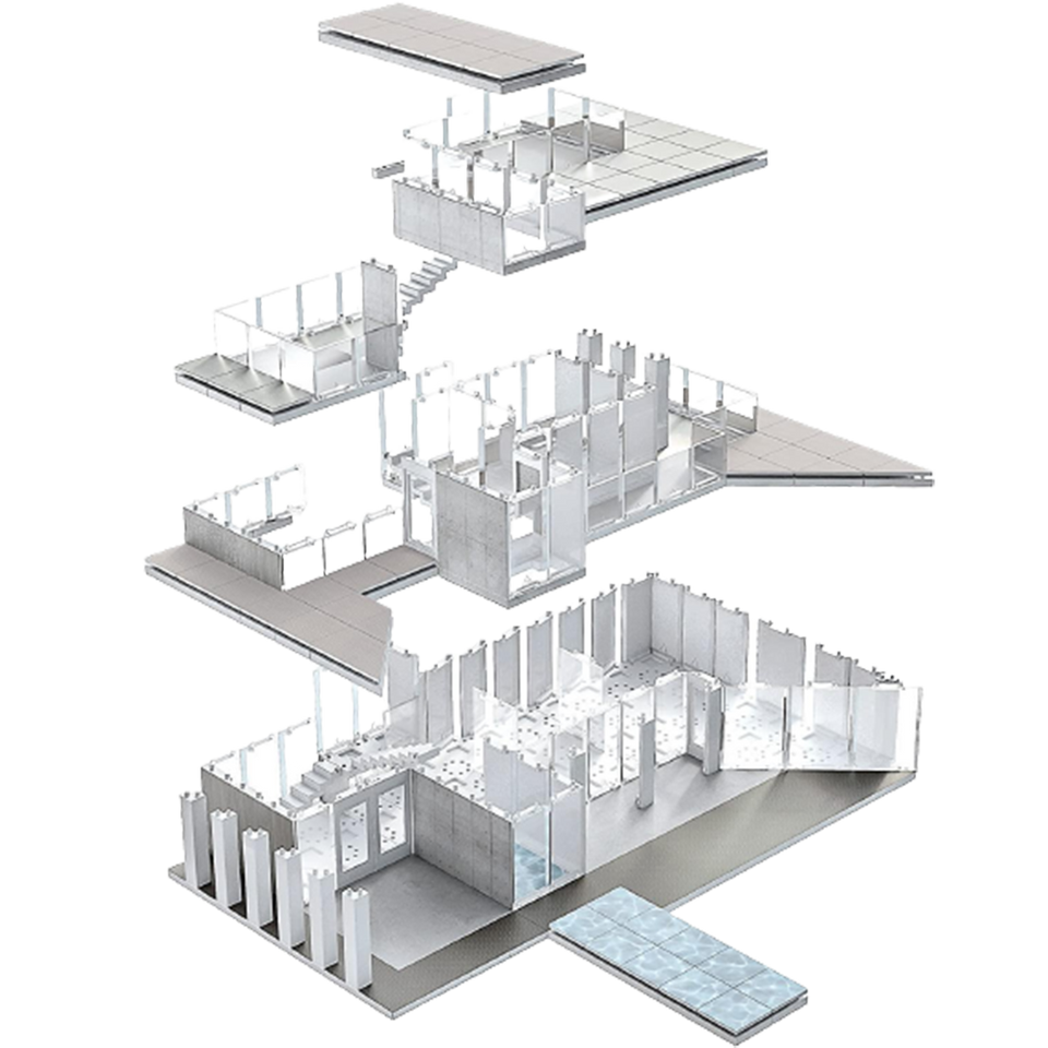 360 Architect Model Building Kit Architecture Design Tool Structure