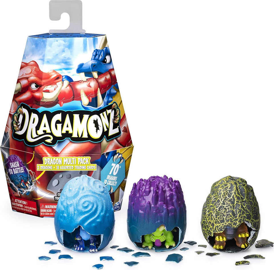 Dragamonz Dragon 3pc Multi Pack Eggs Collectible Assorted Trading Card Game Spin Master