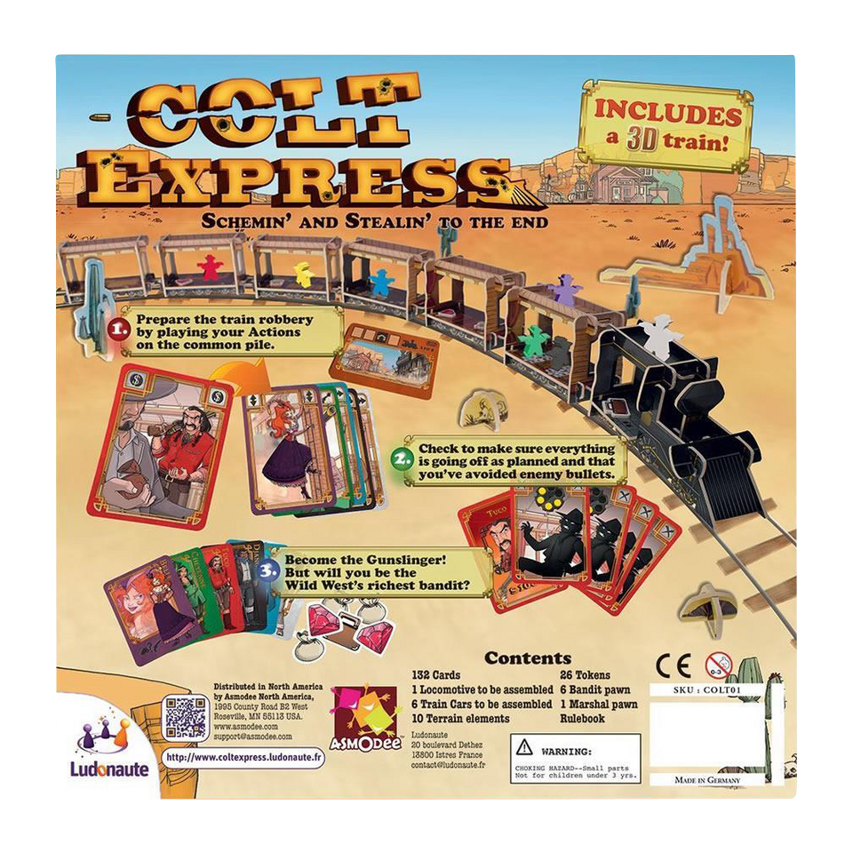 Asmodee Colt Express 1899 Union Pacific Train Board Game
