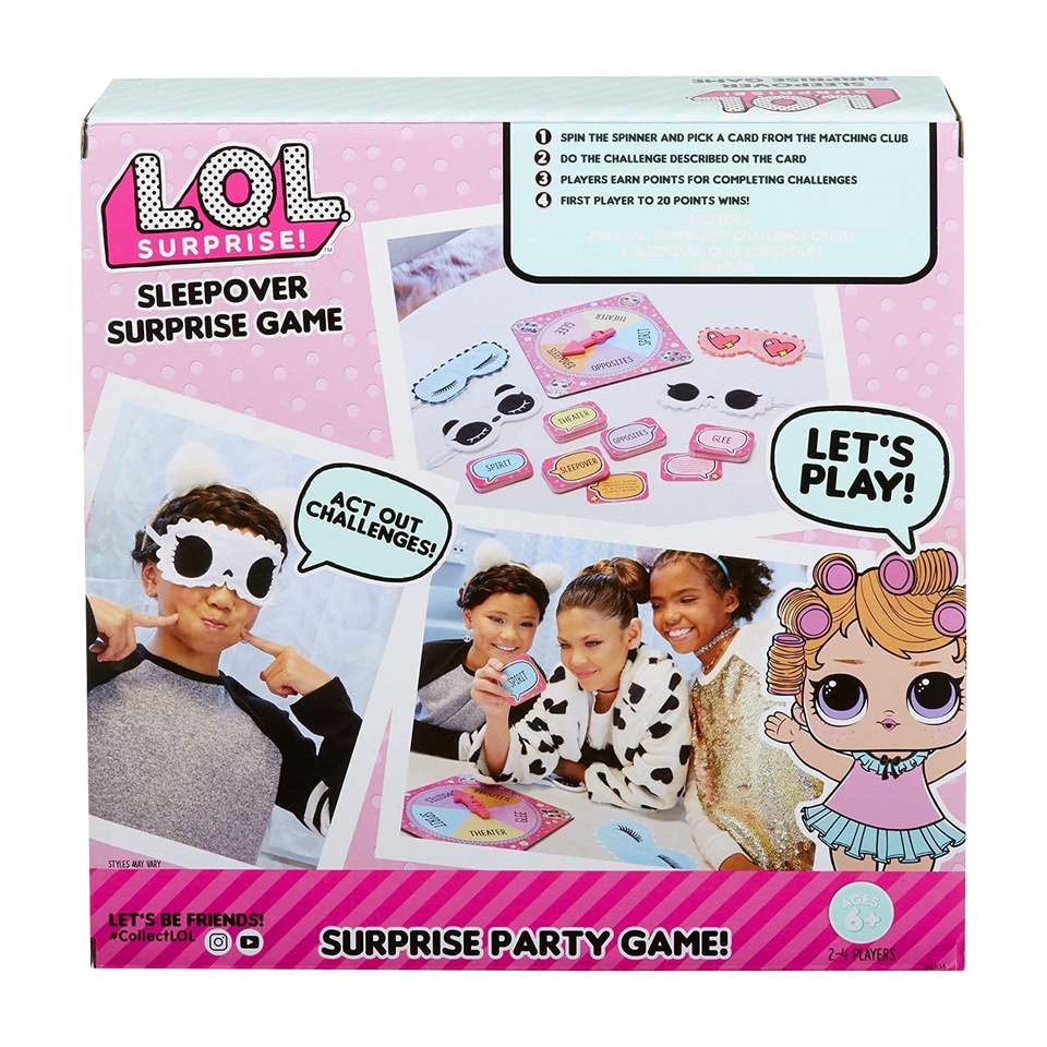 L.O.L. Surprise! Sleepover Surprise Game Kids LOL Party Family Fun MGA