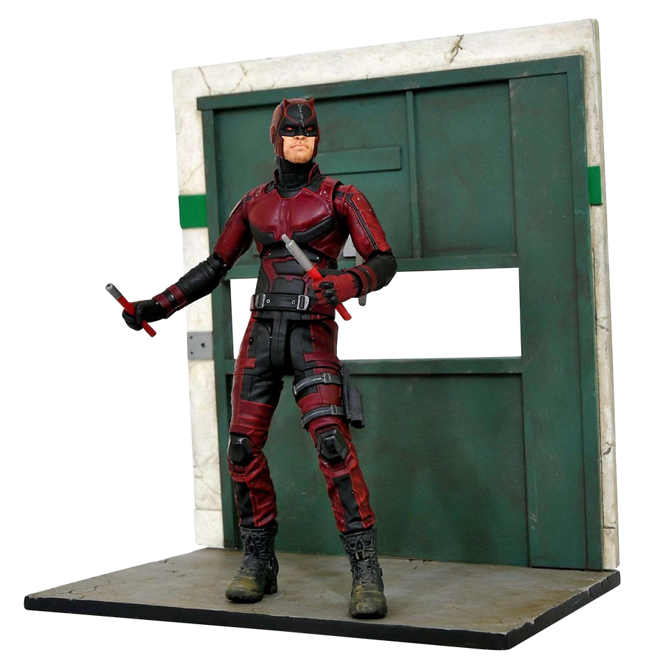 Diamond Select Marvel Netflix Daredevil Figure Season 2 TV Series w/Diorama Base likeness of Charlie CoxAg