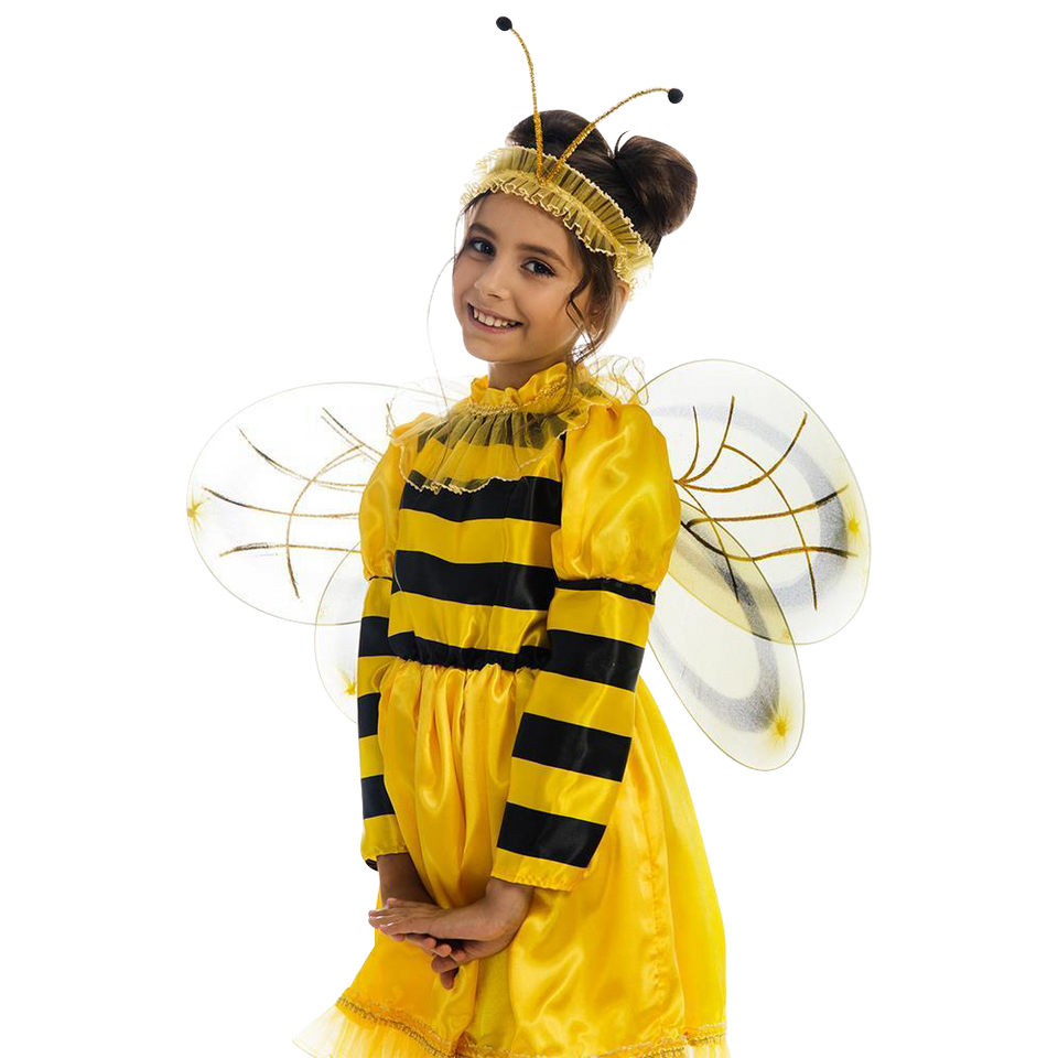 5 O'Reet Bumblebee Bee Girls Plush Animal Costume Dress-Up Play Kids Size Extra Small
