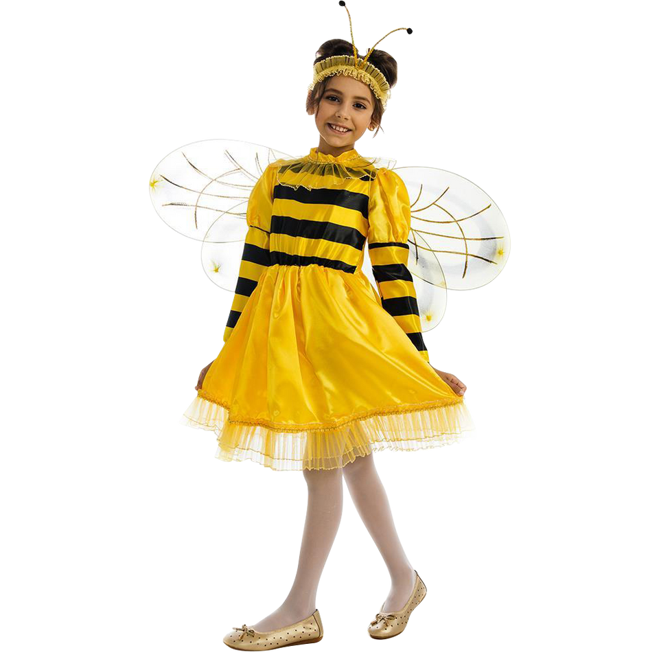 Bumblebee Bee Girls Plush Animal Costume Dress-Up Play Kids - X-Small