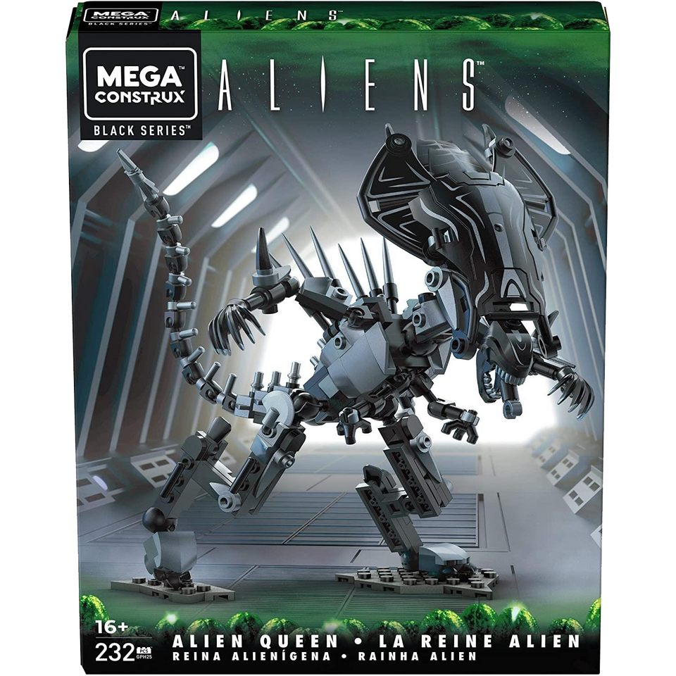 Mega Construx Black Series Aliens Queen Alien Xenomorph 232pc Figure