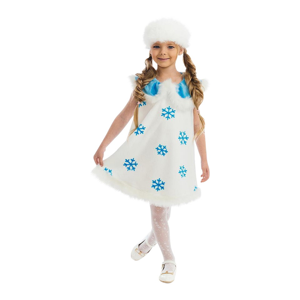 Winter Snowflake Frozen Princess size S Girls Plush Costume Dress-Up Play Kids 5 O'Reet