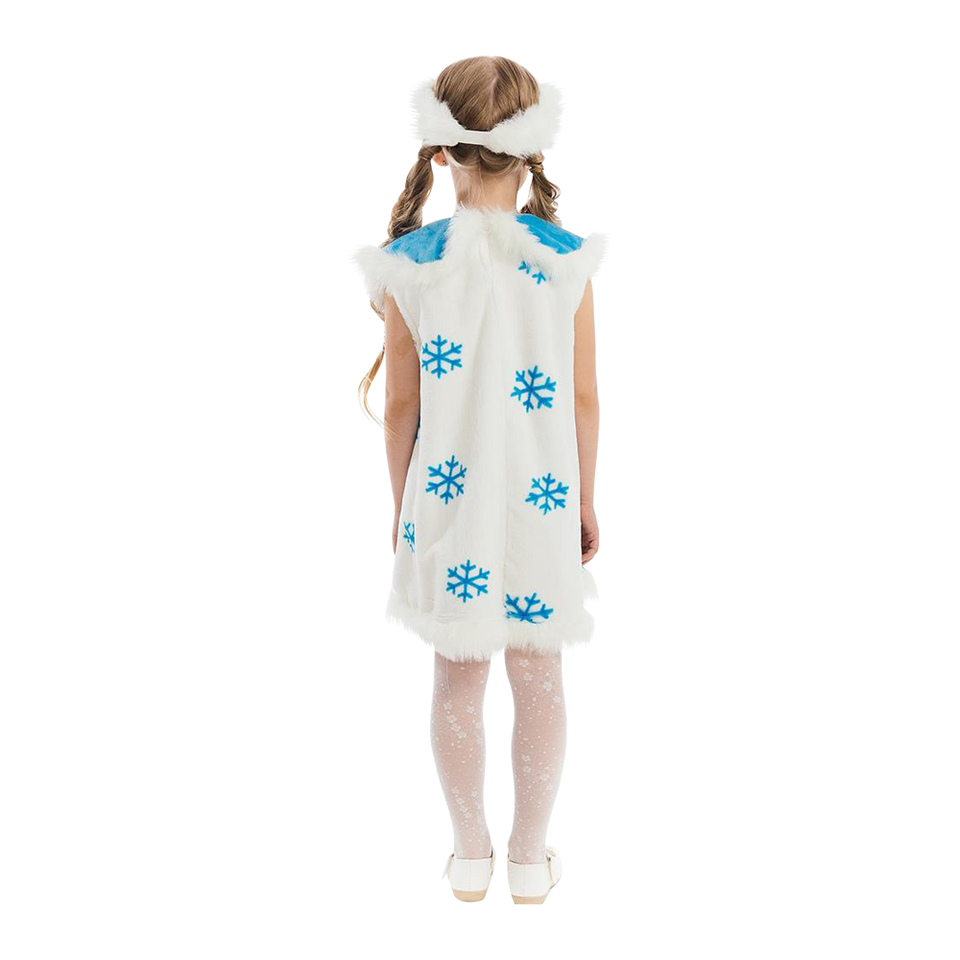 Winter Snowflake Frozen Princess Girls Plush Costume Dress-Up Play Kids - X-Small