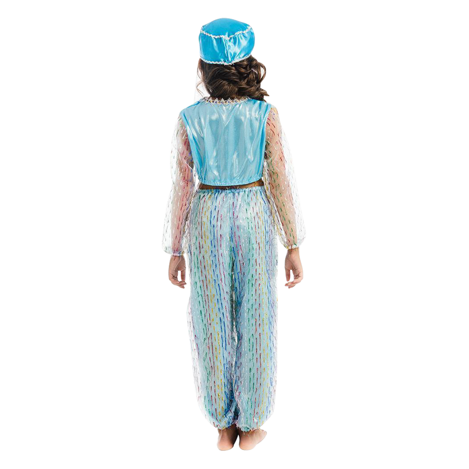 Magical Harem Jasmine Princess Girls Blue Costume Carnival Dress-Up Play - Medium