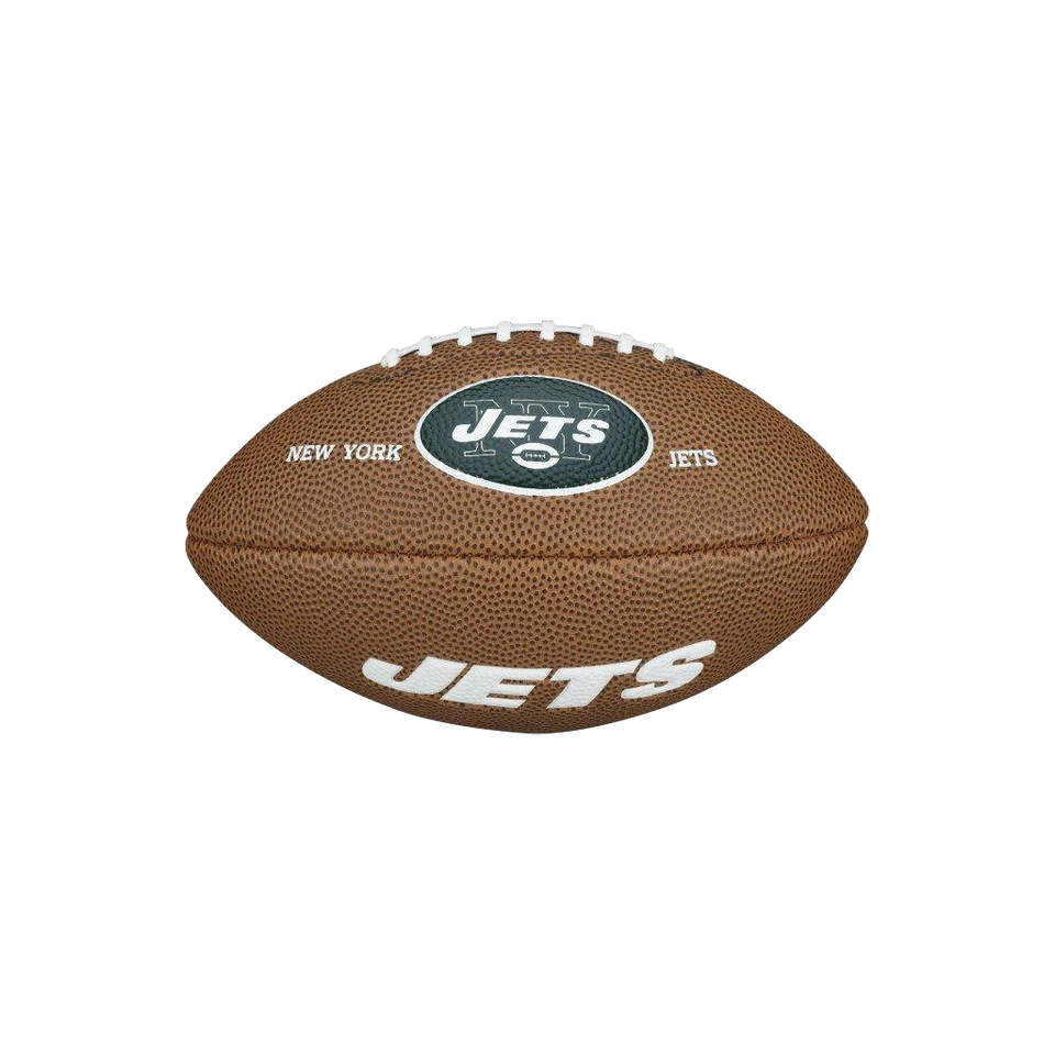 Wilson New York Jets Mini Football NYJ NFL Team Logo Soft Series Rubber Ball Sport WTF1533IDNJ