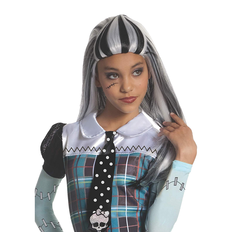 Monster High Frankie Stein Girls Wig Costume Accessory