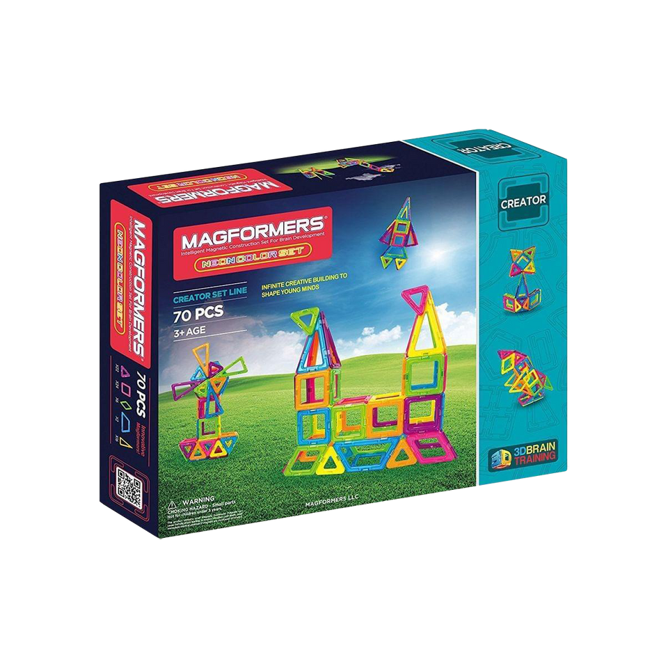 Magformers Neon Set 3D Educational Tiles - Magnetic STEM Toy