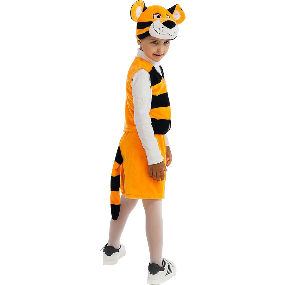 5 O'Reet Bengal Tiger Animal Boys Plush Costume Dress-Up Play Kids Size Extra Small