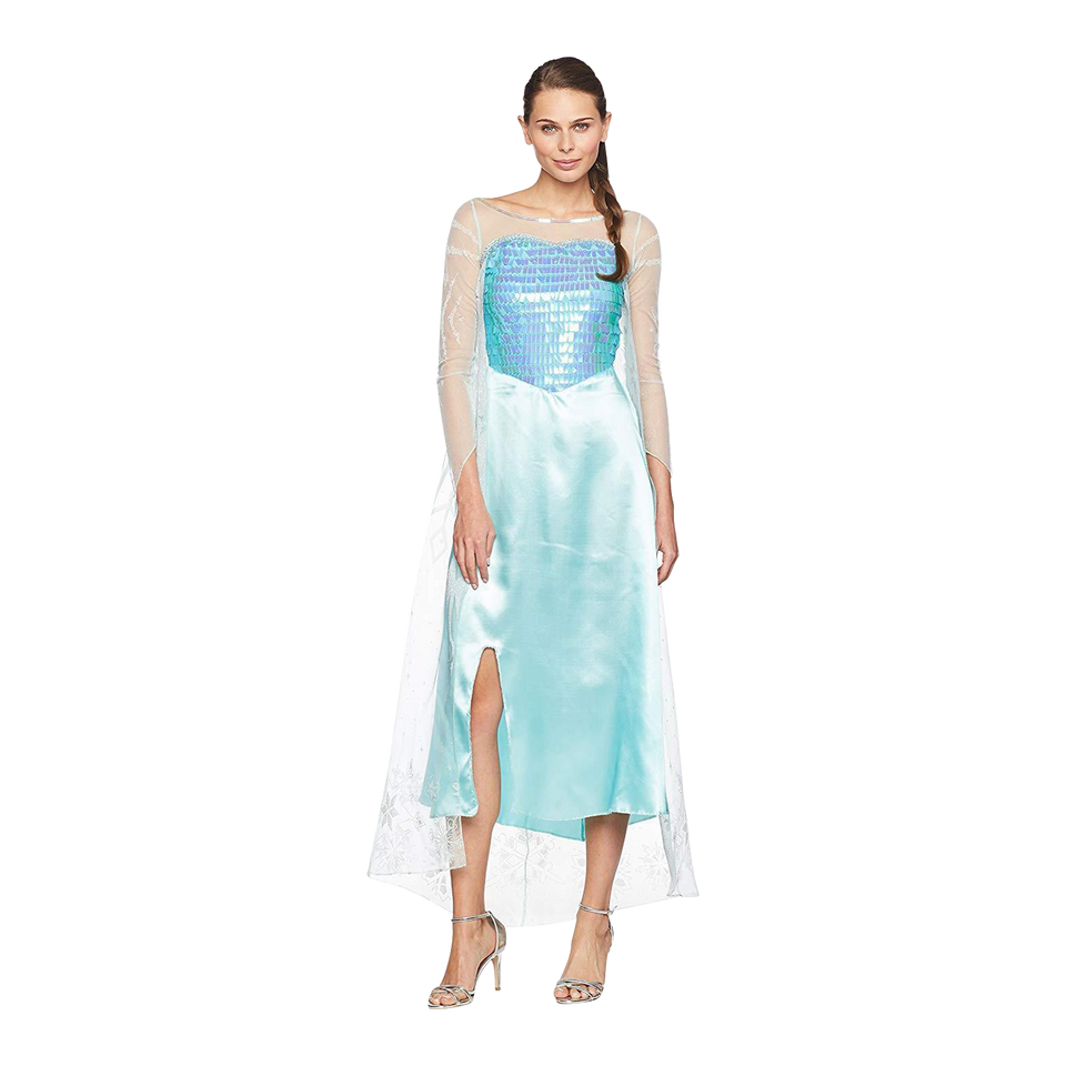 Disney Frozen Elsa Deluxe Womens size M 8/10 Licensed Costume Disguise