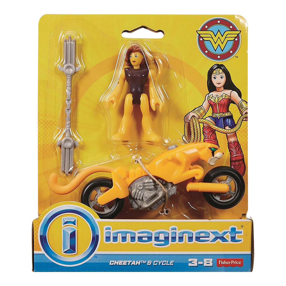 Imaginext Wonder Woman Cheetah & Cycle Action Figures