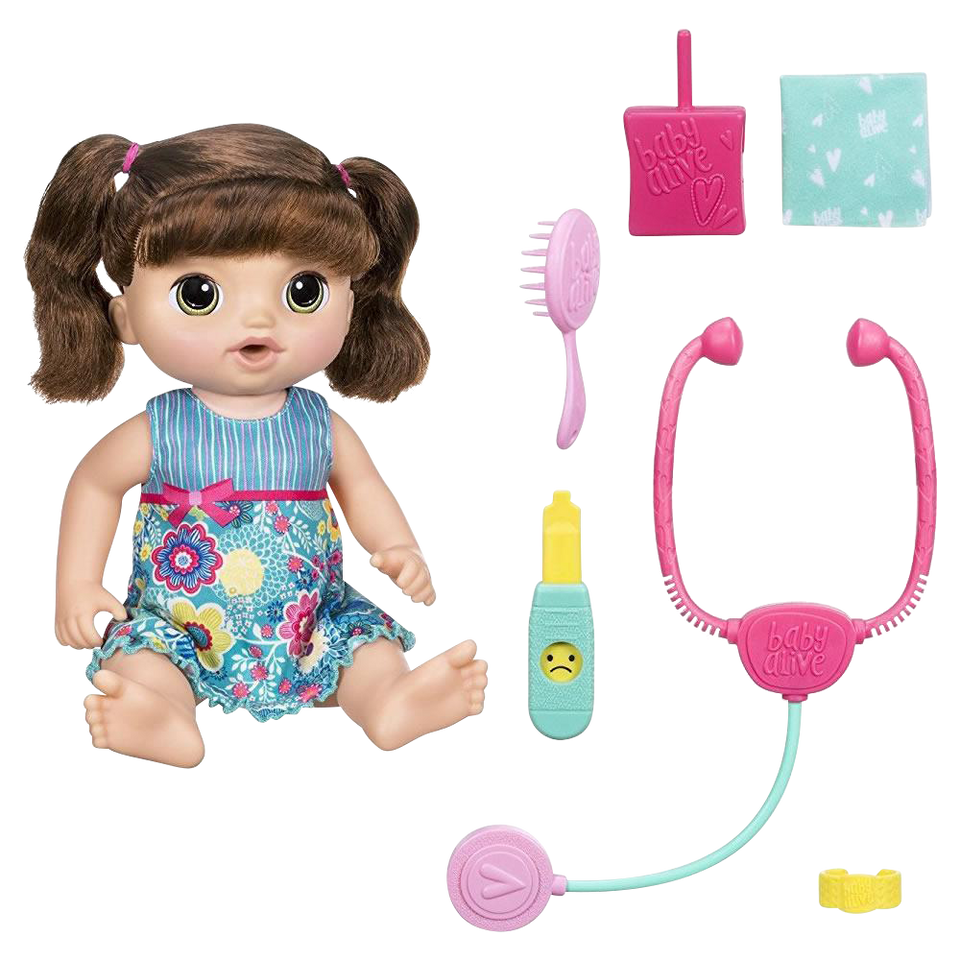Baby Alive Sweet Tears Baby (Brunette) speaks English and Spanish