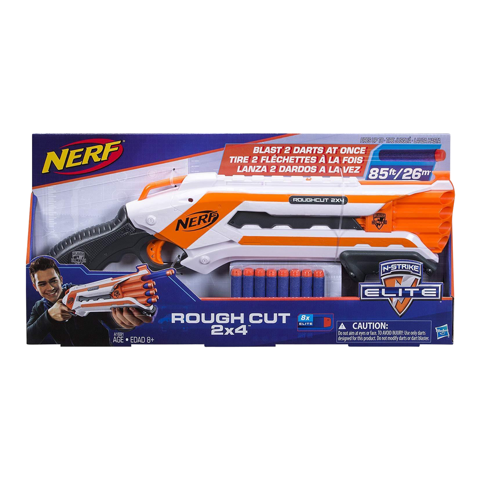 Hasbro Nerf N-Strike Elite Rough Cut Blaster 2x4 Dart Shooter