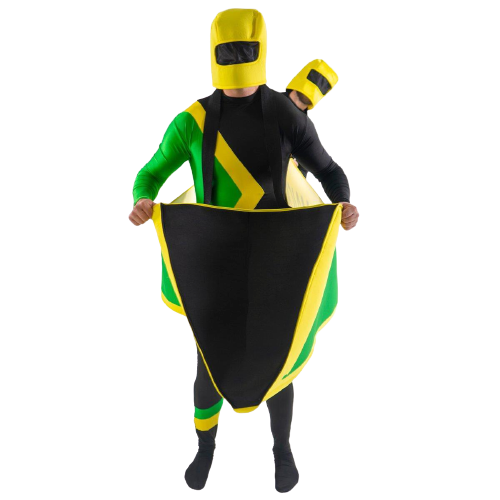 Jamaican Bobsleigh Cool Running's Bobsled 2-Person Couple Adult Costume - O/S