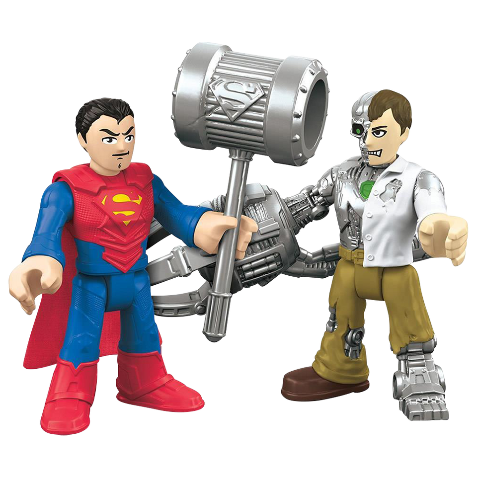Fisher-Price Imaginext Superman & Metallo DC Super Friends Figures Set