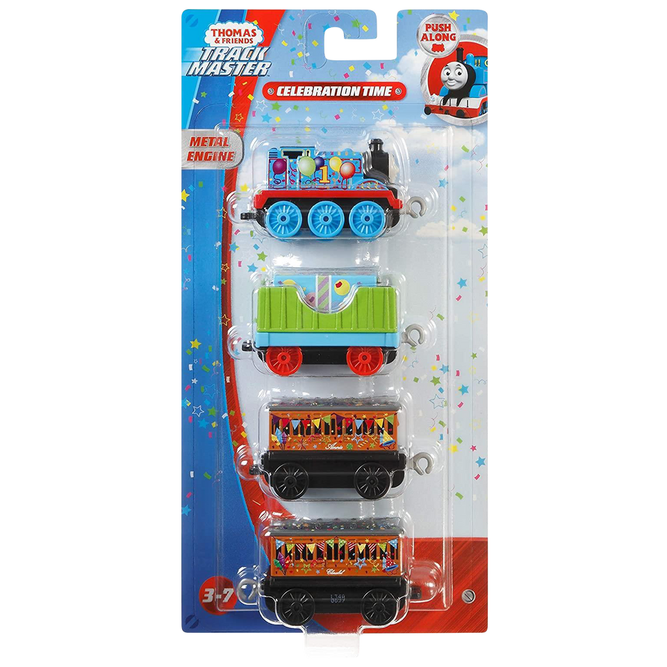 Thomas & Friends Celebration/Birthday Push Along 4-Pack Toy Trian