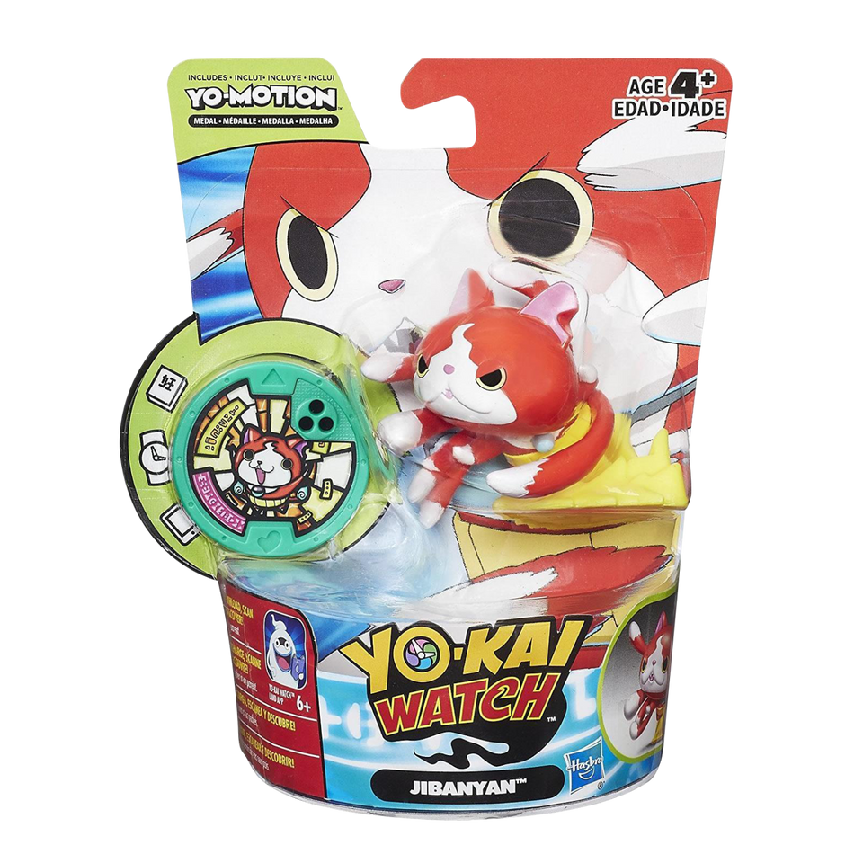 Yo-Kai Watch Series 2 Jibanyan Yo-Motion Medal Moments Figure Hasbro