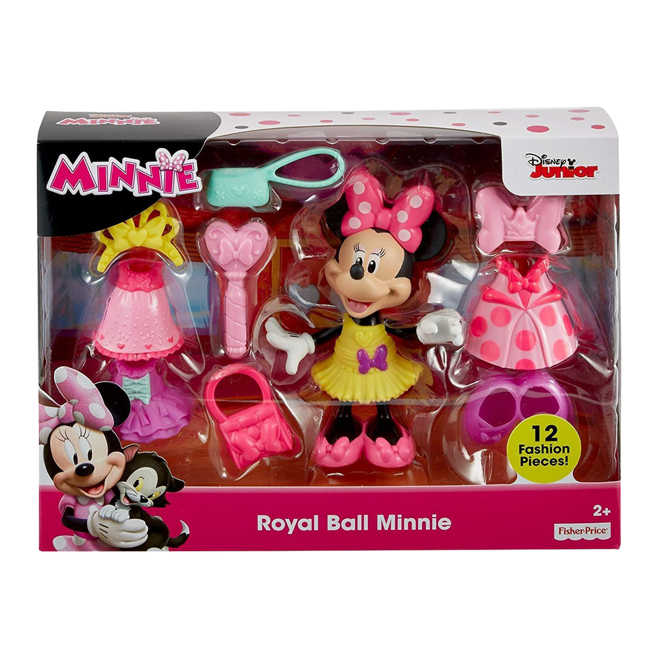 Disney Junior Royal Ball Minnie Figure Play Set Fisher-Price