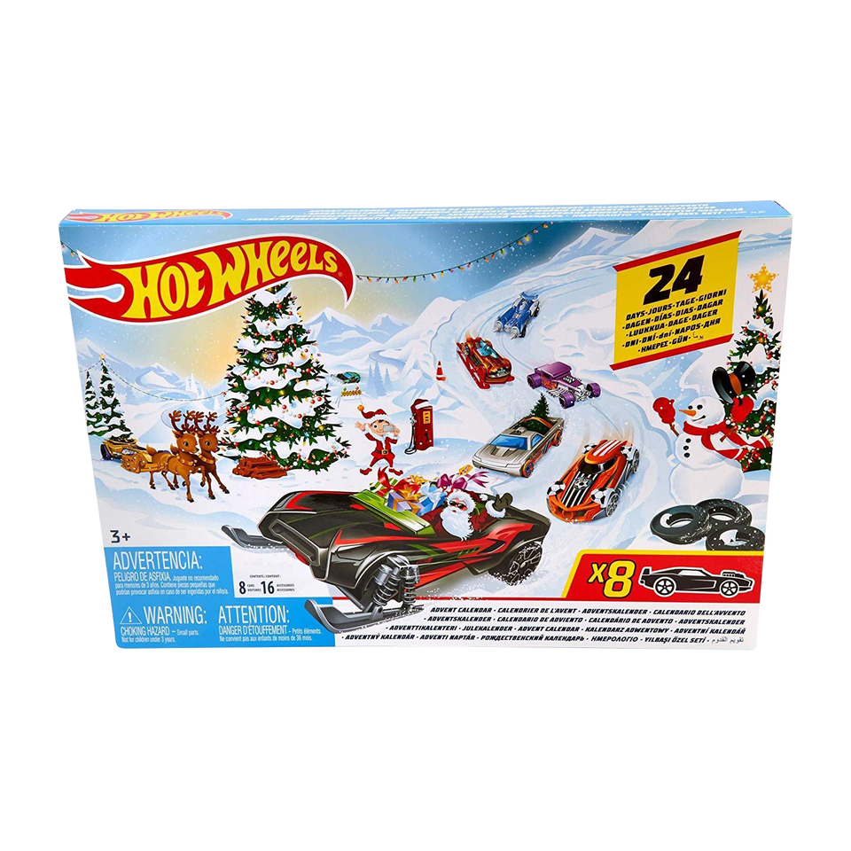 Hot Wheels 2019 Advent Calendar Vehicles Collectible Gift Mattel