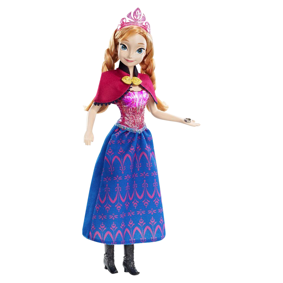 Disney Frozen Musical Magic Anna Doll Princess Collection Series Mattel Toys Y9966