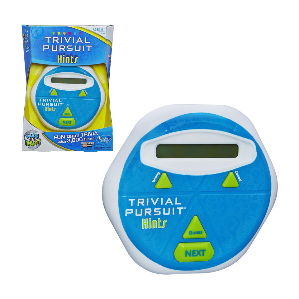 Trivial Pursuit Hints Game Hasbro Electronic Display Play Fun Party Team Toy