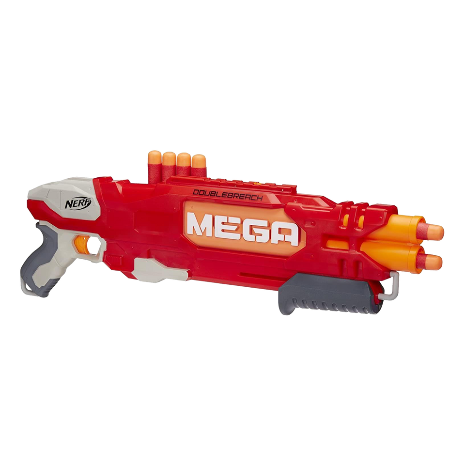Nerf N-Strike Elite DoubleBreach Blaster Pump Action Dart Gun Hasbro