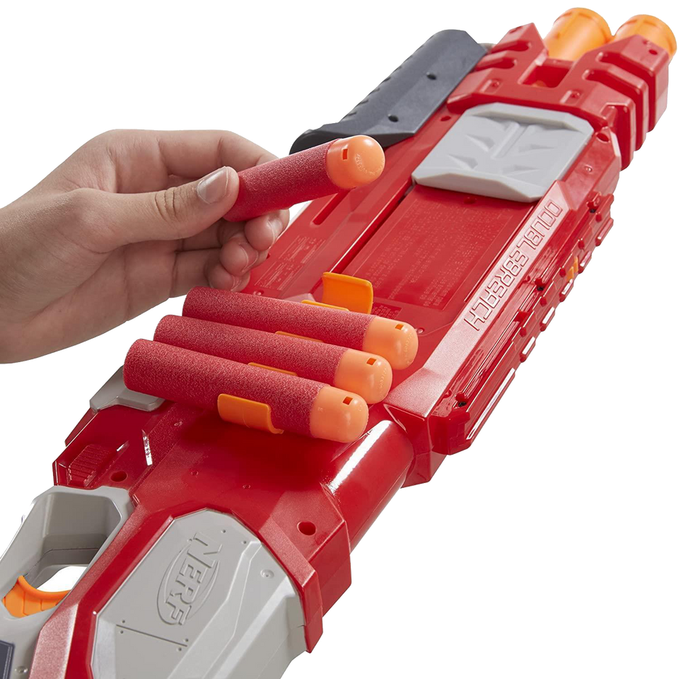 Nerf N-Strike Elite DoubleBreach Blaster Pump Action Dart Gun