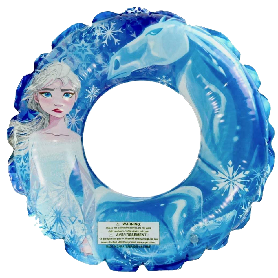 Disney Frozen 2 Beach Ball & Swim Ring Elsa Ice Princess Anna Nokk Pool Float Set
