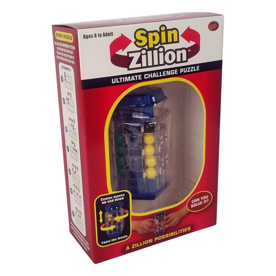 Spin Zillion Brain Teaser Challenge Puzzle California Creations