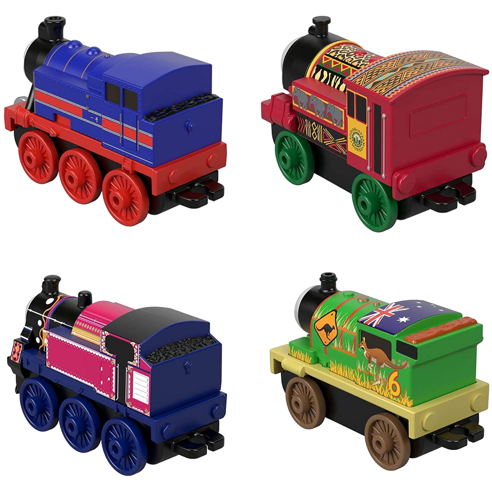 Thomas & Friends Around The World Push Along 4-Pack Detailed Fisher-Price