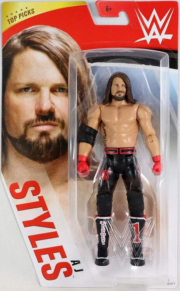 WWE AJ Styles Top Picks Action Figure Wrestling - Articulated (Retro)