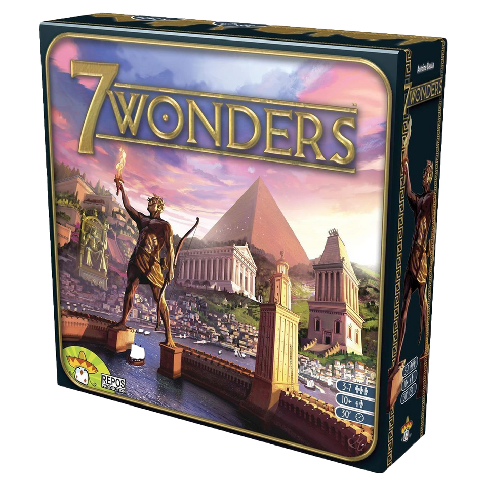7 Wonders Board Game Ancient World Strategy Build Military Fun Family