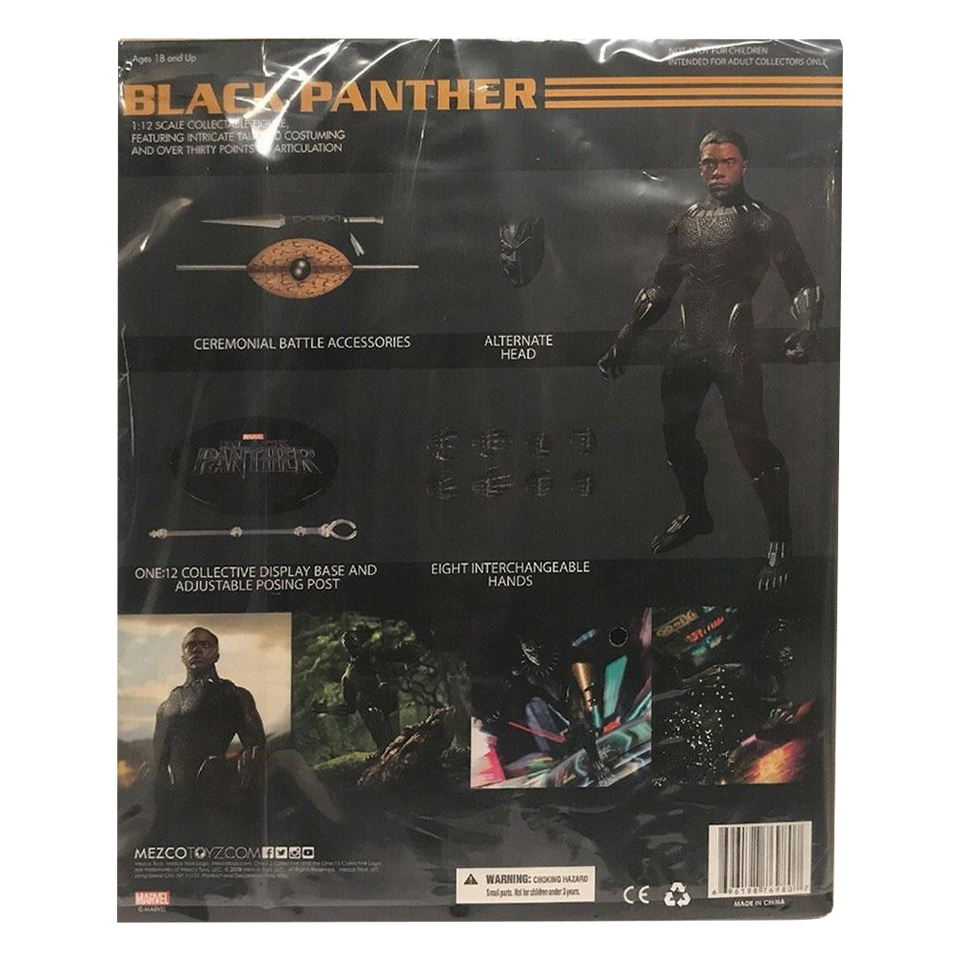 Mezco One:12 Marvel Comics Black Panther Figure Chadwick Action Movie
