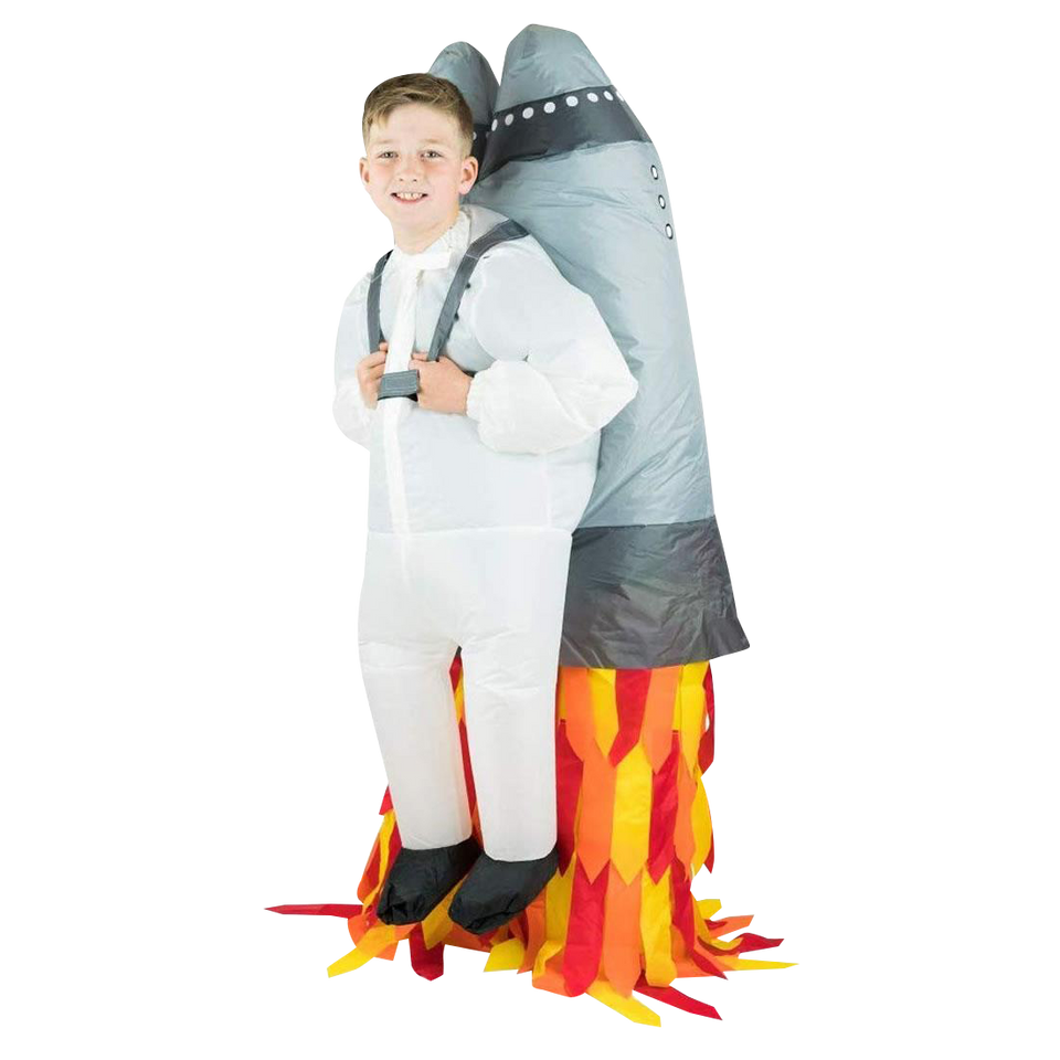 Inflatable Jetpack Rocket Astronaut Space Kids Costume size O/S Bodysocks