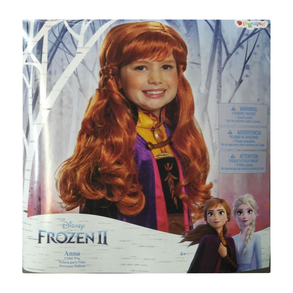 Disney Frozen 2 Anna Child Wig Licensed Costume Accessory