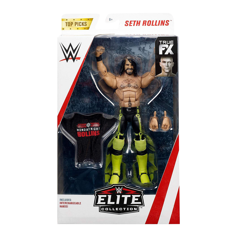 WWE Seth Rollins Elite Top Picks Wrestling Action Figure