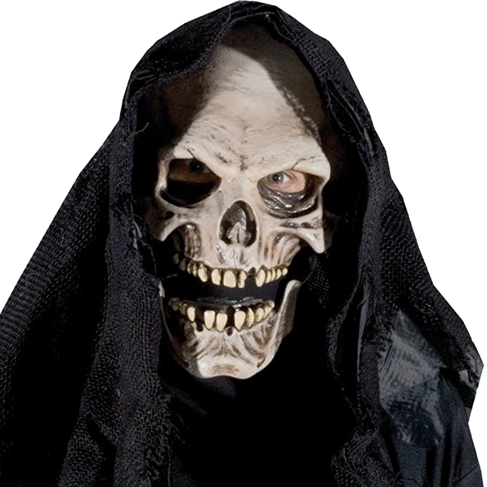 Grim Reaper Mask Death Lifelike Adult Costume Decor Accessory Zagone Studios