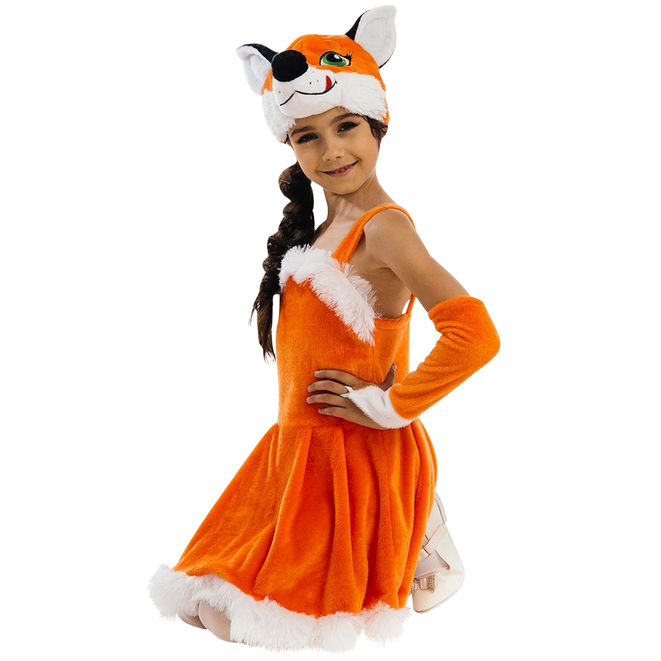 Foxy Fox Dress Plush Girls Costume Carnival Dress-Up Play - X-Small