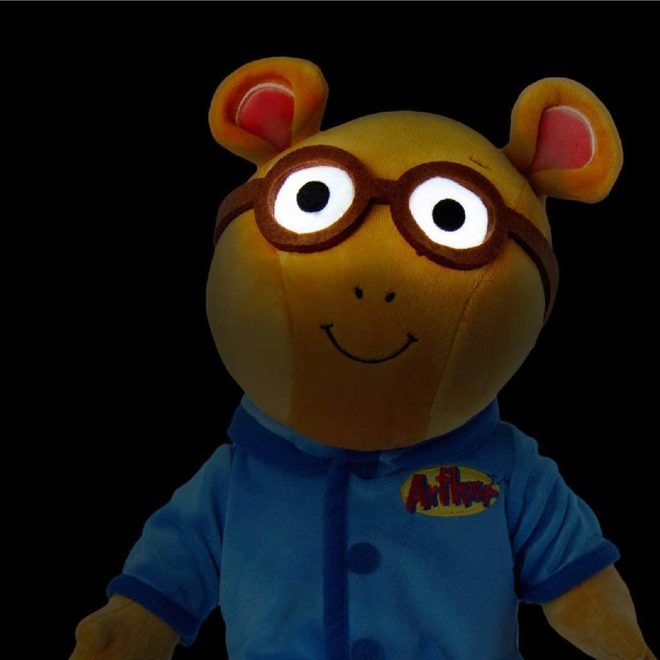 Arthur the Aardvark Nighttime Plush Doll Lights-Up Stuffed Kids Toy PBS TV Character