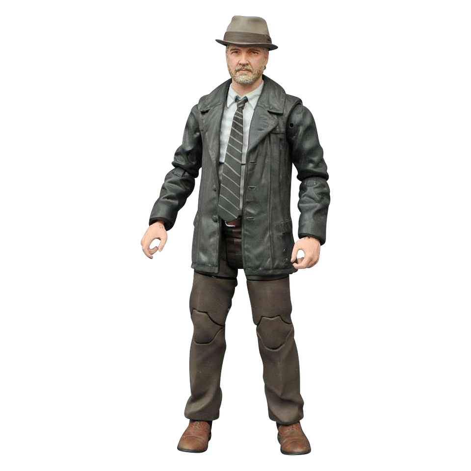 "Gotham Det. Harvey Bullock Action Figure Toy Batman w/Base 7"" Comic TV DC Cop Diamond Select OCT152194"