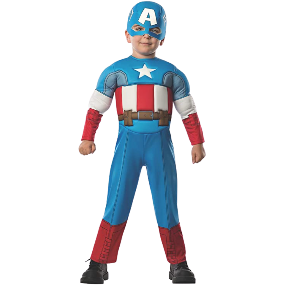 Marvel Superhero Captain America Muscle Toddler Licensed Costume Entire - Small (2/4)