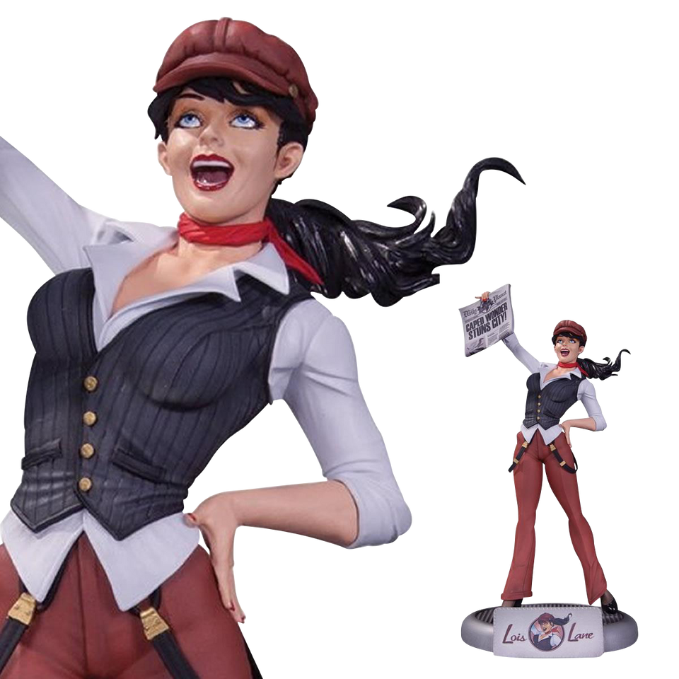 "DC Comics Bombshells Lois Lane Statue Pinup 11.5"" Collectible 1940s Reporter Collectibles FEB150301"
