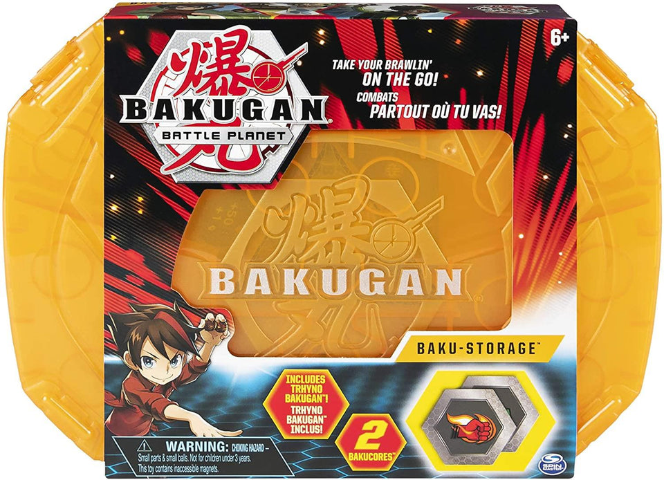 Bakugan Battle Planet Baku Storage Case Gold Orange BakuCores Container Spin Master