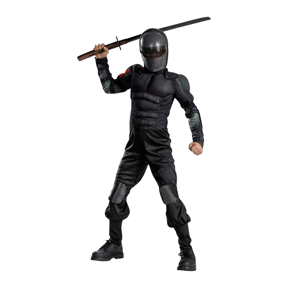 GI Joe Retaliation Snake Eyes Muscle size L 10/12 Licensed Marvel Costume Disguise
