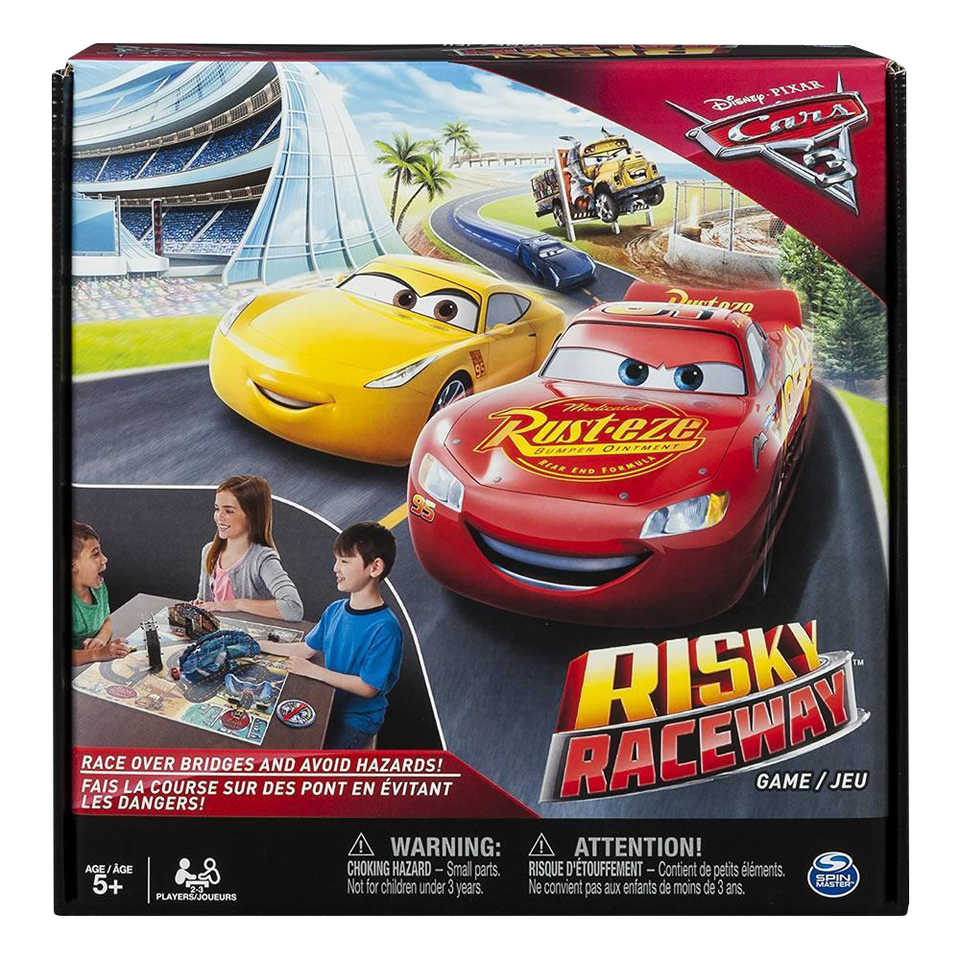 Spin Master Disney Pixar Cars 3 Risky Raceway Board Game Spin Master