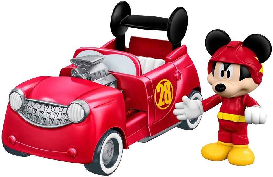 Fisher-Price Disney Mickey & the Roadster Racers 2-in-1 Hot Doggin' Hot Rod Car