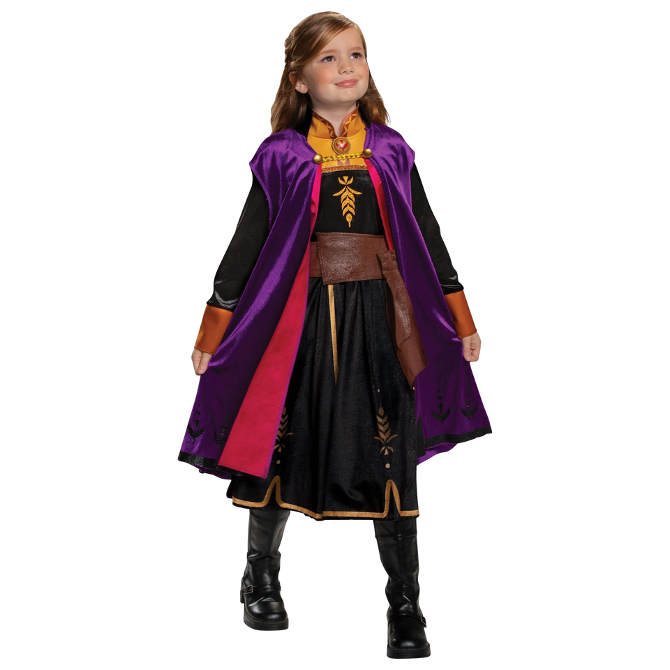 Disney Frozen 2 Anna Classic Girls Licensed Costume - X-Small (3T/4T)